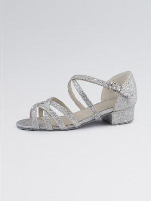 1st Position Ballroom Hologram Shoe X-Straps Low Heel
