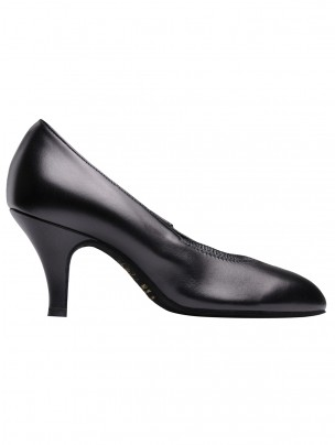 Supadance Round Toe Elasticated Leather Court Shoe
