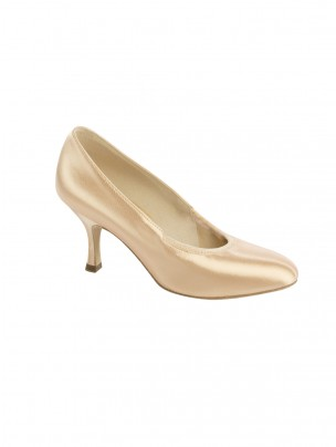 Supadance Round Toe Elasticated Satin Court Shoe