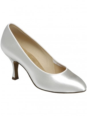 Supadance Round Toe Satin Court Shoe