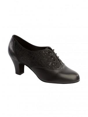Supadance Soft Lace Up Training Leather/Stingray Shoe