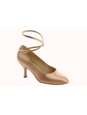 Supadance Satin Round Toe Court Shoe