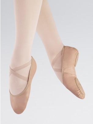 1st Position Stretch Leather Split Sole Ballet Shoe