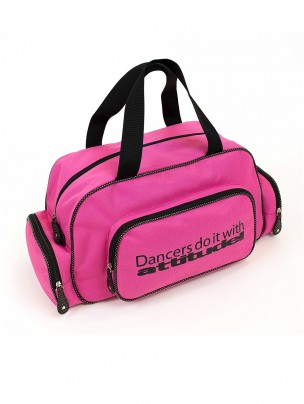 """Pink Sparkle """"Dancers do it with attitude!"""" Holdall"""