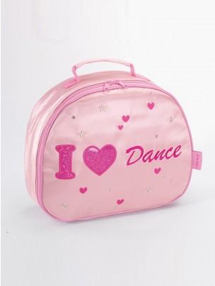 Katz I Heart Dance Satin Oval Vanity Case