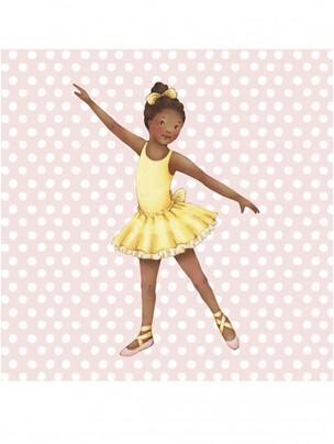 Little Ballerina Pink spot Grace card