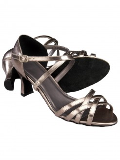 1st Position Ballroom/Latin Sandal - Metallic Pewter - Main