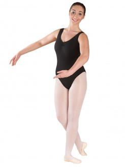 1st Position Jacquie Ruched Front & Back Leotard Cotton - Main