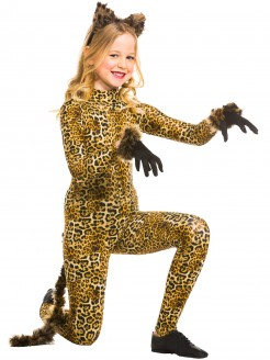 1st Position Keyhole Back Animal Print Catsuit - Main