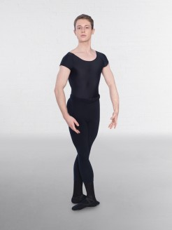 1st Position Male Cap Sleeve Scoop Neck Leotard