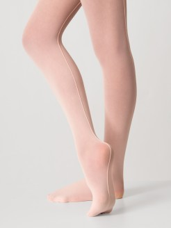 Silky Seamed Ballet Tights