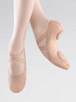 """Bloch """"Synchrony"""" Rosa Ballettschuhe aus dehnbarem Leinen"""