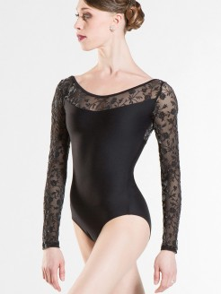 Wear Moi Lacelong sleeved Leo Black