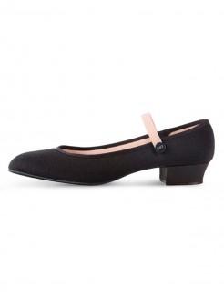 Bloch Accent Low Heel Canvas Character Shoe Black - Main