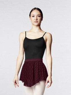 Bloch Diamond Flocked Mesh Skirt