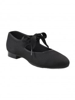 Capezio Canvas Jr Tyette Tap Shoes - Black - Main