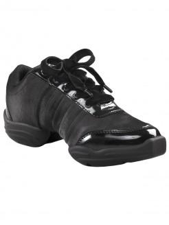 Capezio Daphnis Satin Dance Sneaker - Black