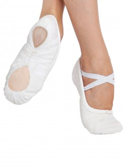 Capezio Pro Canvas Ballet Shoe White - Main