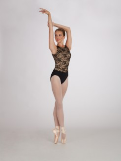 Capezio Vintage Whisper Lace Tank Leotard - Main