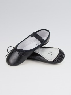 Capezio Daisy Ballet Shoes Black Leather Narrow