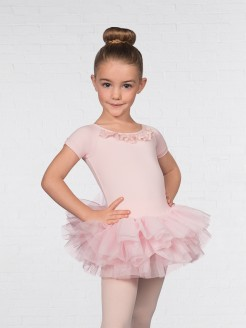 1st Position Cap Sleeved Mesh Heart Tutu
