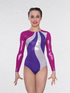1st Position Megan Diamante Long Sleeved Leotard