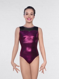 1st Position Zara Mesh Sleeveless Leotard