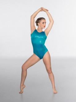 1st Position Kourtney Hologram Shine Sleeveless Leotard