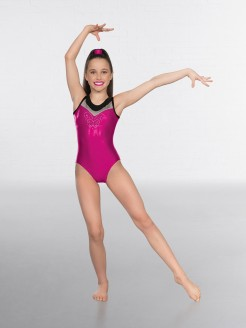 1st Position Premium Diamante Sleeveless Gymnastic Leotard