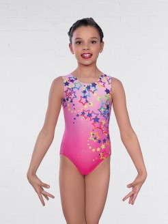 1st Position Star Print Sleeveless Leotard
