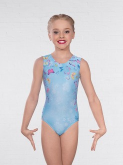 1st Position Butterfly Print Sleeveless Leotard