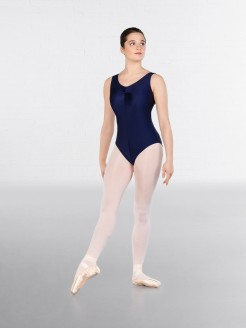 IDTA Ruched Front Leotard Navy Blue