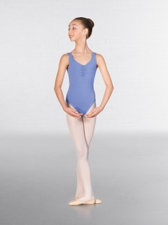 IDTA Ballet Sleeveless Low Back Leotard Sapphire