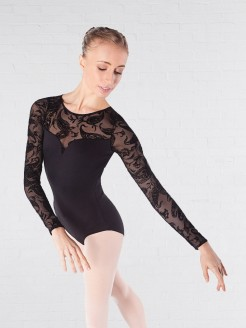 Intermezzo Bodymertatu Long Sleeved Lace Leotard