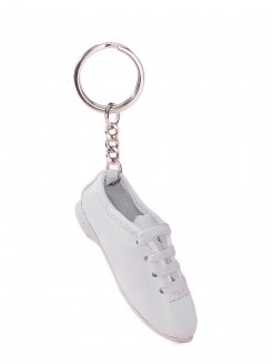 Katz White Jazz Shoe Keyring - Main
