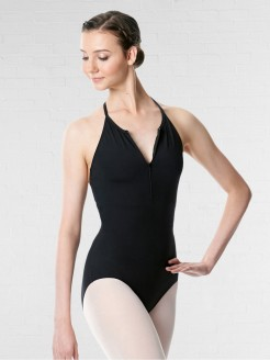 Lulli Halter Neck Zipper Leotard Sarah