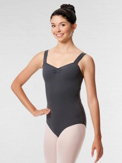 Lulli Pinch Front Leotard Constanza with Wide Straps