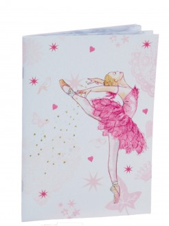 Pink Ballerina Design Soft Notebook - Main