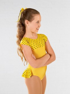1st Position Natasha Dotty Bum Frill Leotard Yellow