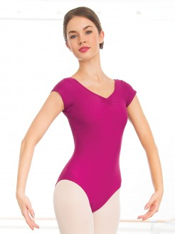 1st Position Alice Cap Sleeved Ruched Leotard (Matt Nylon)