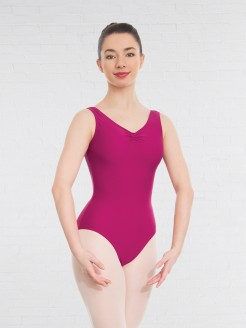 1st Position Helena Ruched Lined Leotard (Matt Nylon)