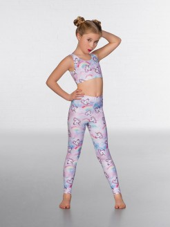 1st Position Print Leggings Unicorn Foil Print