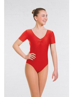 1st Position Alison Short Sleeved Leotard Black