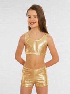1st Position Metallic Hot Pants Gold