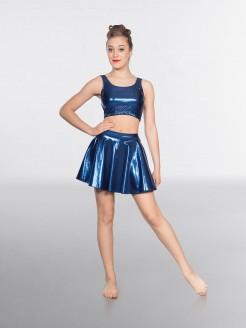 1st Position Metallic Circular Skirt Sapphire
