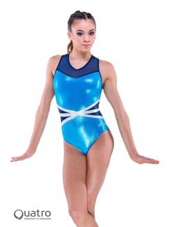 Quatro Legend Racer Gymnastics Short Sleeve Leotard