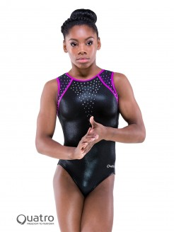 Quatro Gymnastics Short Sleeve Leotard
