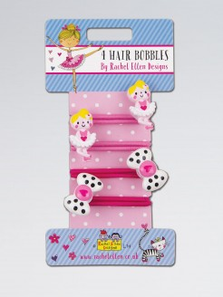 Rachel Ellen Ballerina and Bow Hair Bobbles