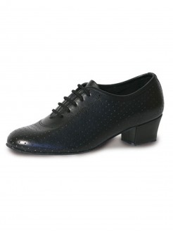 Roch Valley Audrey Ladies Practice PerforatedLeather Shoe with 1.5 inch Cuban Heel