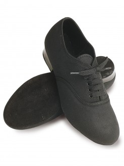 Roch Valley Boys Canvas Oxford Shoes - Black